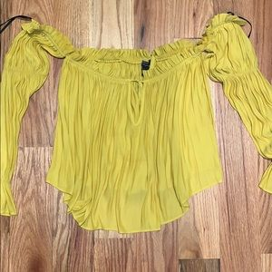 Mustard Peasant Top from F21